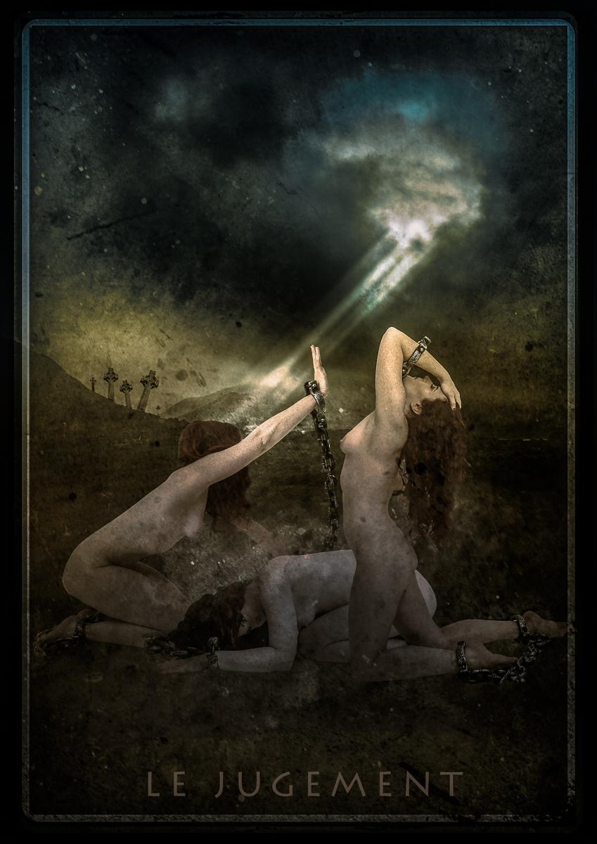 fine art image of three naked women depicting Judgement