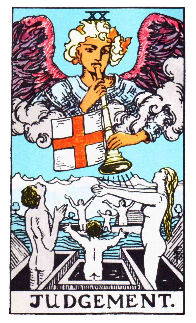 a tarot card depicting Judgement