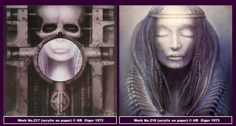 two works of gothic art by H.R. Geiger