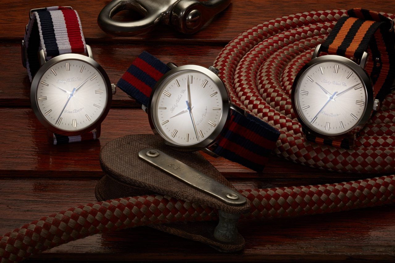 product photography of three designer watches