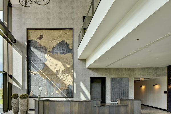 award winning image of the reception area of a luxury hotel